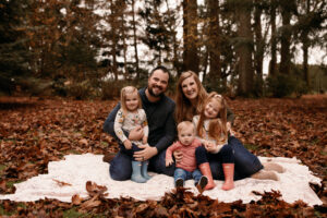 Playful Oregon Fall Family Photos